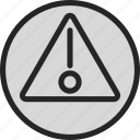 alert, attention, danger, warning icon