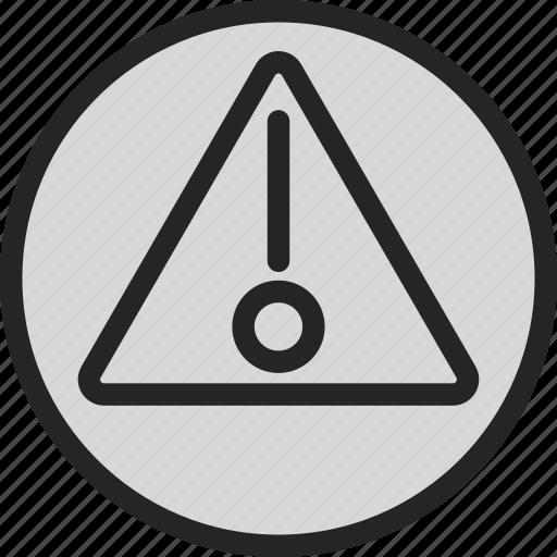 alert, attention, danger, warning icon