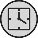 clock, date, time, watch icon