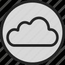 cloud, data, network, online, server, storage, weather icon