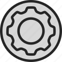account, cog, machine, profile, settings icon