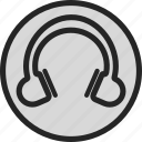 headphone, music, sound, volume icon