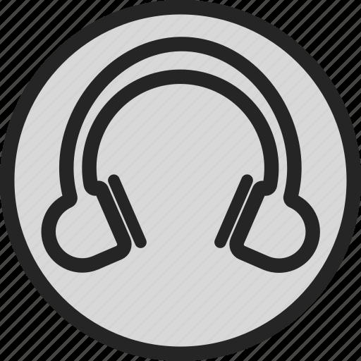 headphone, music, sound, volume icon