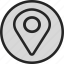 location, map, maps, marker, pin, track, tracking icon