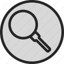find, glass, look up, magnifying, magnifying glass, search icon