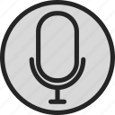 mic, microphone, recorder, sound, speech, voice, volume icon