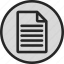 a4, data, document, file, note, paper, text icon