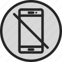 device, forbidden, mobile, no phone, smartphone icon