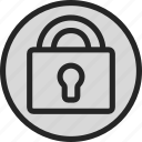 defender, lock, padlock, password, secure, security, unlock icon