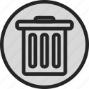 can, delete, recycle, recycle bin, remove, trash icon