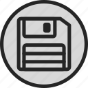 computer, disc, file, floppy, pc, save, save as icon