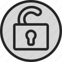 defender, lock, padlock, secure, security, unlock icon