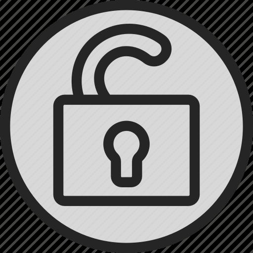defender, lock, padlock, secure, security, unlock icon