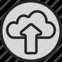 arrow, cloud, online, save, server, storage, upload icon