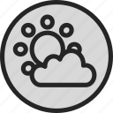 cloud, forecast, sun, weather, weather app icon