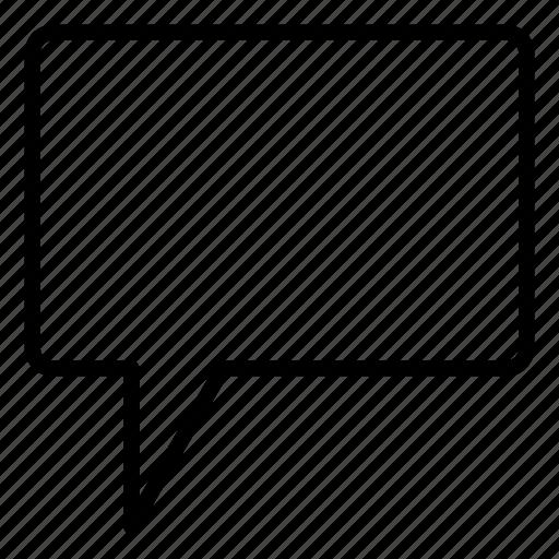 ballon, chat, comment, communication, message, square icon