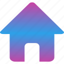 building, estate, home, house, solid icon