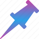 attach, pin, pushpin, tack, thumbtack icon