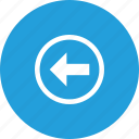 arrow, direction, left, path, way icon