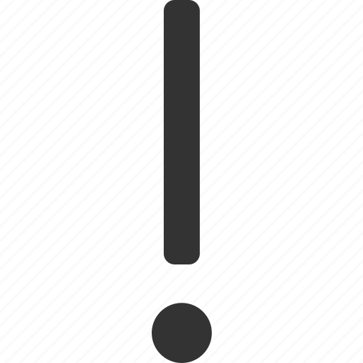 alert, attention, danger, error icon