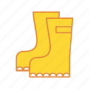 boots, shoes, working, working boots icon