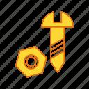 bolt, nut, screw icon