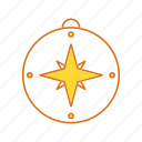 compass, direction, direction tool icon