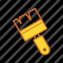 brush, oil, paint, tool icon