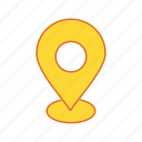 location, map, point icon