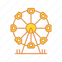 ferris, park, wheel icon