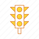 road signal, signal, traffic signal icon