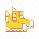 hicking, shoes, winter icon