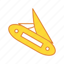 cut, cutting, hicking, knife icon