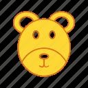 animal, bear, toy icon
