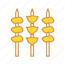 barbee que, bbq, beef, chicken, meat icon