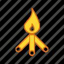 bone fire, camping, fire, fun, outdoor icon