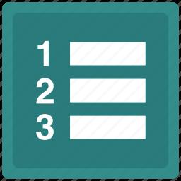 checklist, list, order icon