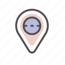 directions, location, navigation, place icon, map