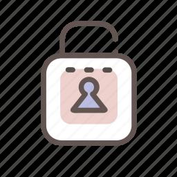 key, lock, secure, unlock icon