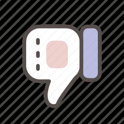 dislike, hand, thumbs, unlike, vote icon