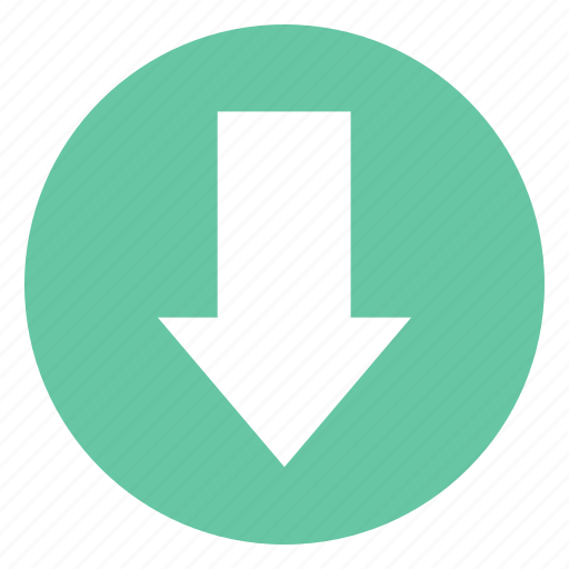 Arrow, down arrow, download, direction, down, save icon - Download on Iconfinder