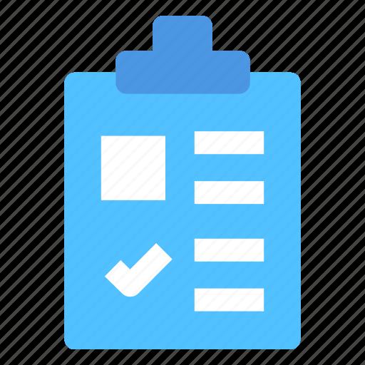 Checklist, notepad, survey, clipboard, list icon - Download on Iconfinder