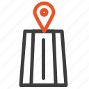 navigation, road, route icon