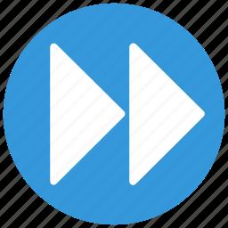 audio, forward, next, player, video icon icon