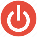 interface, on, power, push icon icon