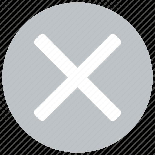 cancel, close, delete, exit, remove, x icon icon