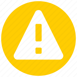alert, attention, danger, error, exclamation, problem, warning icon icon