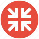 arrow, minimize, reduce, reduction, screen, ui, zoom icon icon