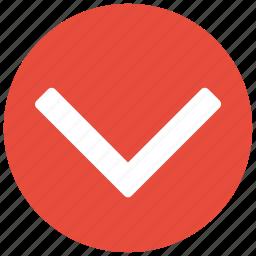 arrow, chevron, down, next icon icon