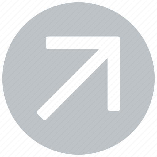 arrow, direction, right, top icon icon